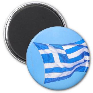 Greek flag in Athens Magnet