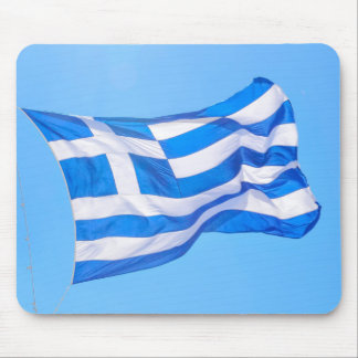 Greek flag in Athens Mouse Pad