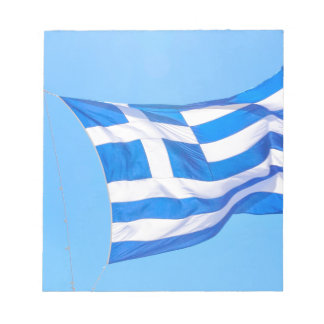 Greek flag in Athens Notepad