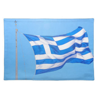 Greek flag in Athens Placemat