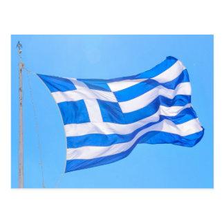 Greek flag in Athens Postcard