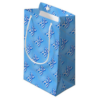 Greek flag in Athens Small Gift Bag