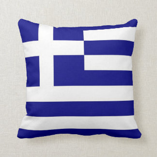 Greek Flag on American MoJo Pillow