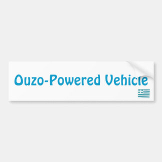 Greek flag, Ouzo-Powered Vehicle Bumper Sticker