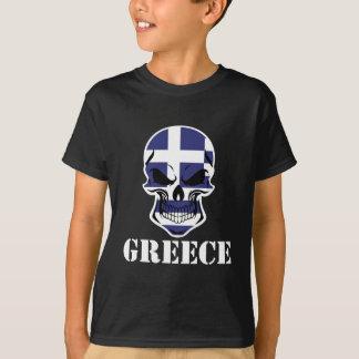 Greek Flag Skull Greece T-Shirt