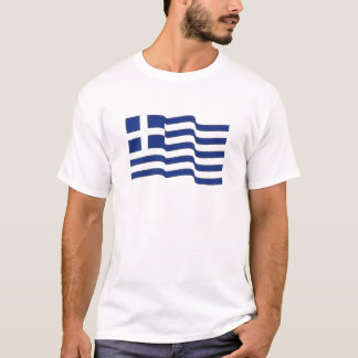 greek flag waving T-Shirt