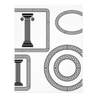 greek frame letterhead