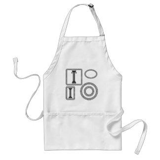 greek frame standard apron