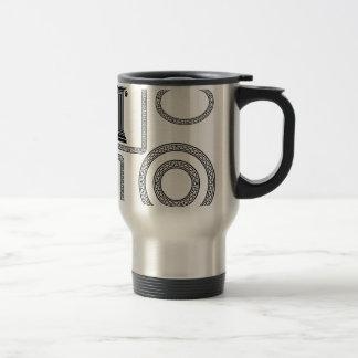 greek frame travel mug
