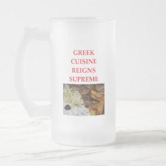 GREEK FROSTED GLASS BEER MUG