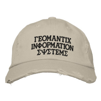 Greek GIS hat Embroidered Hats