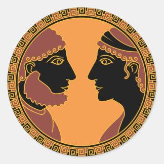 greek god and goddess classic round sticker
