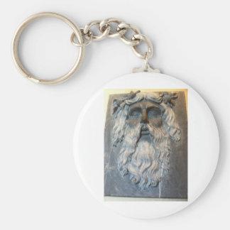 Greek god basic round button keychain
