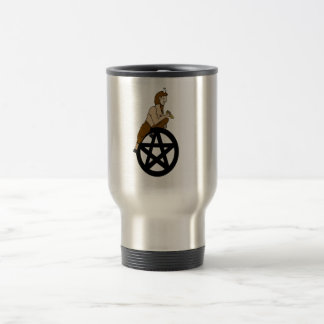 Greek God Pan and Pentacle travel Mug