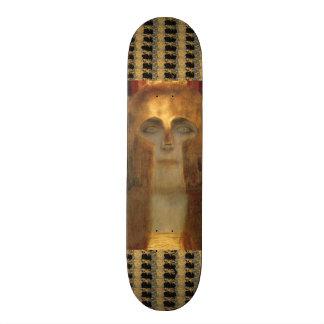 Greek Goddess Athena in Gold Helmet by Klimt Skate Boards