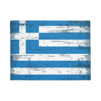 Greek grunge Flag Doormat