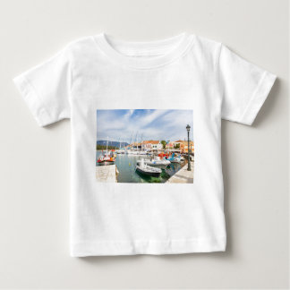 Greek harbor with sailing boats in Fiskardo Baby T-Shirt