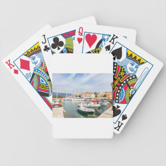 Greek harbor with sailing boats in Fiskardo Bicycle Playing Cards