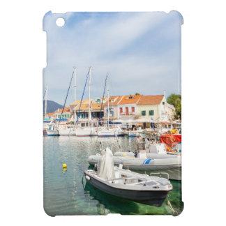 Greek harbor with sailing boats in Fiskardo iPad Mini Cover