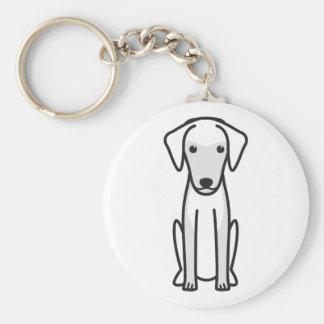 Greek Harehound Dog Cartoon Keychains