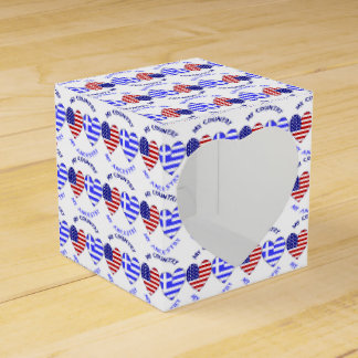 Greek Heart Flag Country Ancestry Favor Box