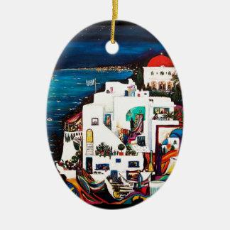 Greek Island Dreams Ceramic Ornament