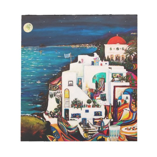 Greek Island Dreams Notebook Notepad
