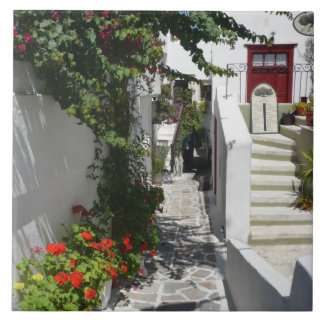 Greek Island Street Tile