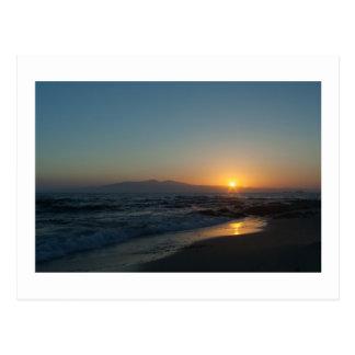 Greek Island Sunset Postcard