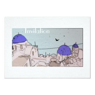 Greek Islands Wedding Celebrations Card