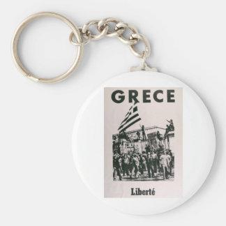 Greek Junda - Against Dictatorship Keychain