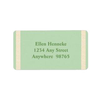 Greek Key Green Label