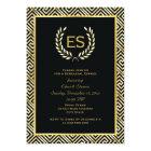 Greek key & laurel wreath wedding rehearsal dinner card