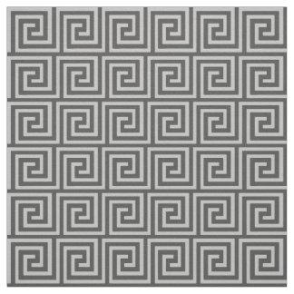Greek Key, shades of grey / gray Fabric