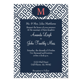 Greek Key Wedding Invitation
