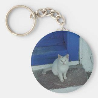 Greek Kitty Key Chain