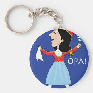 Greek Lady Dancing Key Chain