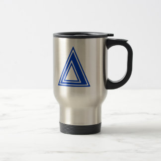 Greek Letter Delta Blue Monogram Initial Travel Mug