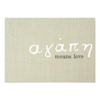 Greek Love Card