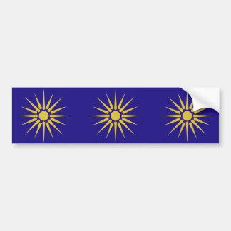 Greek Macedonia, Greece flag Bumper Sticker