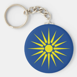 greek macedonia region flag greece country basic round button keychain