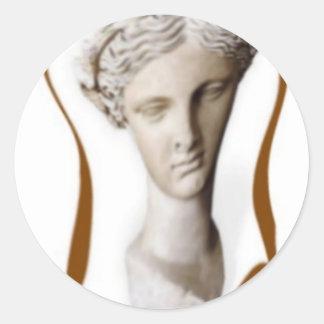 greek muse of poetry 2 round sticker