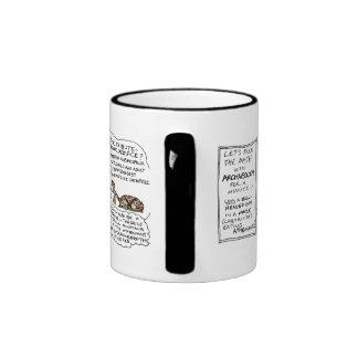 Greek Myth Comix Minotaur Myth mug! Ringer Coffee Mug