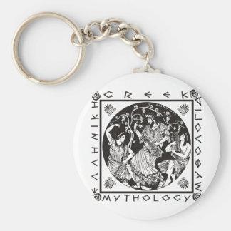 Greek Mythology (black) Basic Round Button Keychain