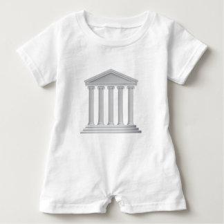 Greek or Roman Temple Columns Baby Romper