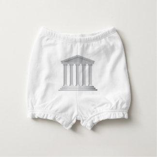 Greek or Roman Temple Columns Diaper Cover
