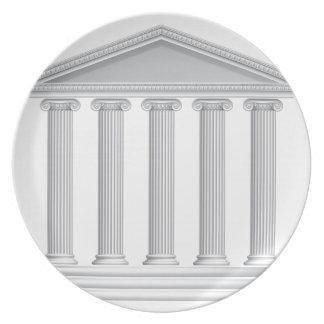 Greek or Roman Temple Columns Plate