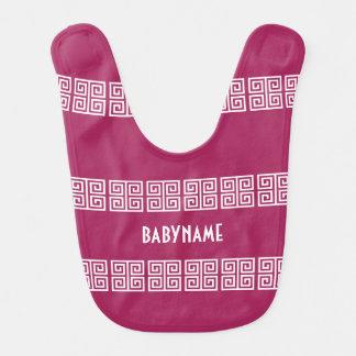 Greek Pattern custom baby bib