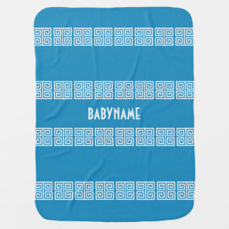 Greek Pattern custom baby blanket