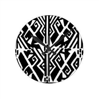 Greek Pattern Round Clock